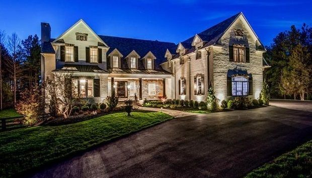 This 9,000 sq foot farmhouse mansion in the rolling pastures outside of Washington, DC previously owned by Cleveland quarterback Robert Griffin III is on the market now...