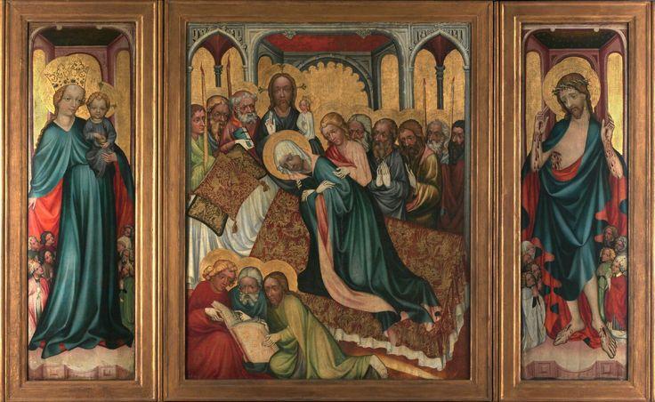 Altare di Roudnice. Morte della Vergine. 1410. Narodni Galerie Praga