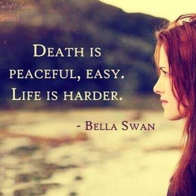 bloodthirsty, death, easy, fashion, girl, hairstyle, hard, life, pain, peace, quotes and sayings, readhead, sadness, style, text, twilight, vampire, movies and series, balla swan