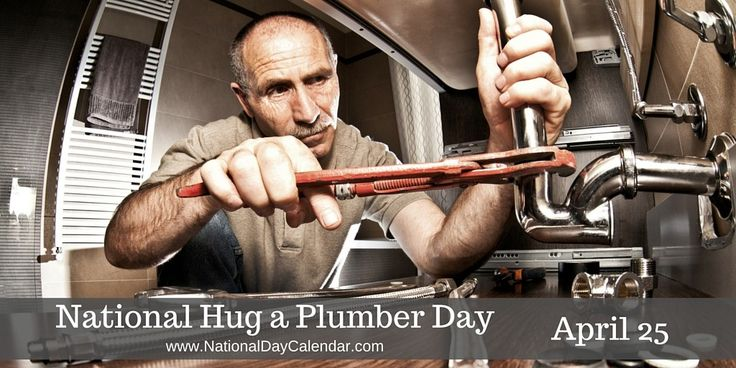 NATIONAL HUG A PLUMBER DAY – APRIL 25 National Hug A Plumber Day is observedacross the country on April 25. Whether it is a minor leak to a major clog, a plumber will have the right tool for the …