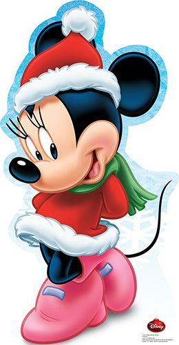 Minnie Mouse Holiday - Disney Lifesize Cardboard Cutout