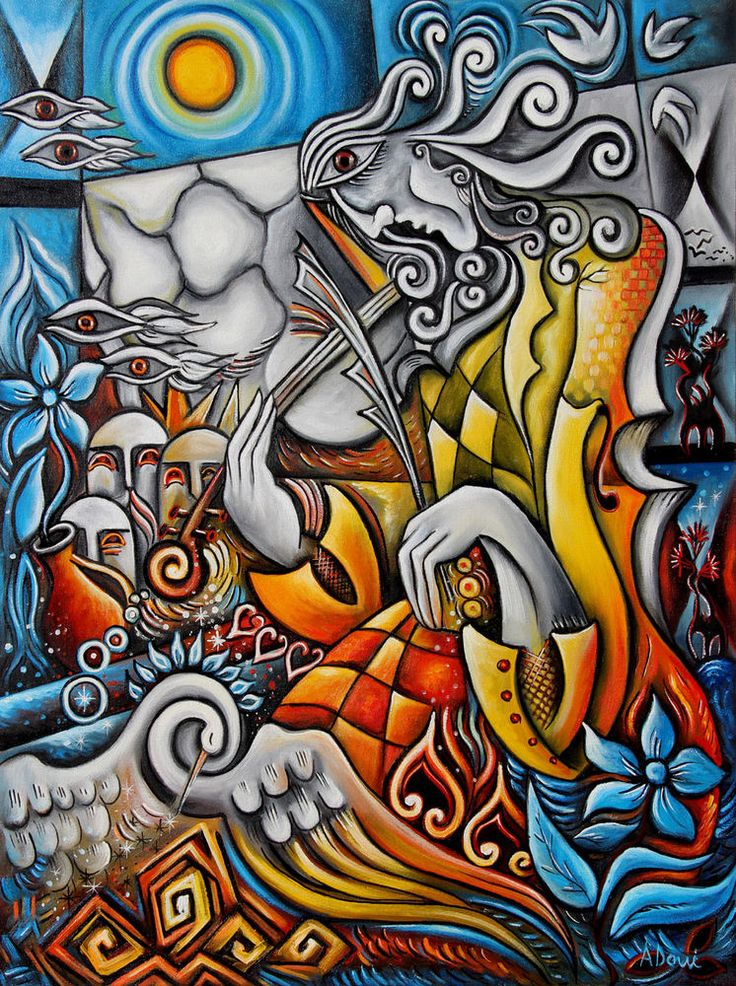 Metamorphose-Cubist oil painting by Adrian Doni. #Cubism