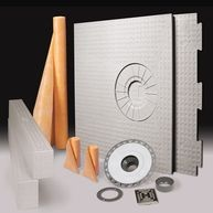 The Schluter-KERDI-SHOWER-KIT is an all inclusive package containing each of the components required to create a maintenance-free, watertight shower assembly without a mortar bed. The integrated Schluter-Shower System eliminates the potential for leakage, efflorescence, and mold growth in the system, is maintenance-free, and dramatically reduces total installation time to ensure success and make shower installation easier than ever.