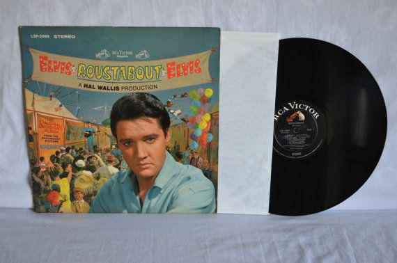 Elvis Presley Roustabout Sound Track Record LP by FloridaFinders, $50.00