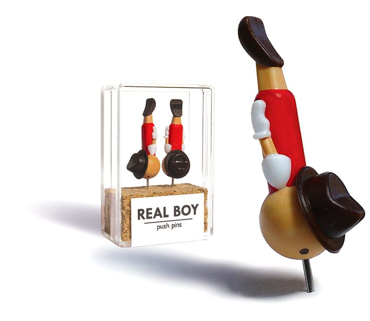 Alfileres para papel Real Boy.
