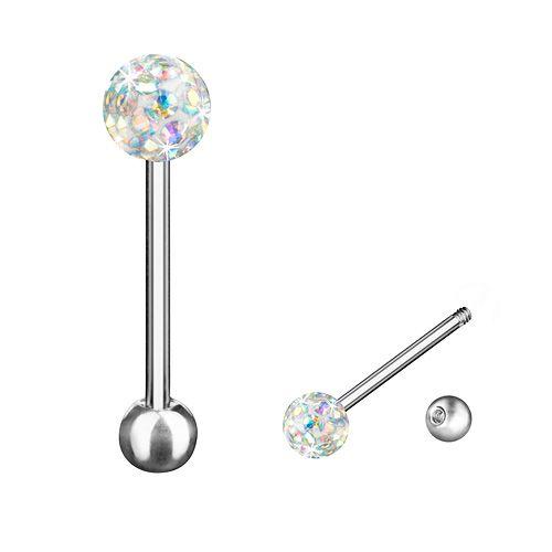 Zungenpiercing Multi Ferido Kristall Kugel