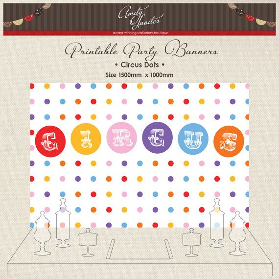 Printable Party Banner Backdrop Buffet Candy by AmityInvites