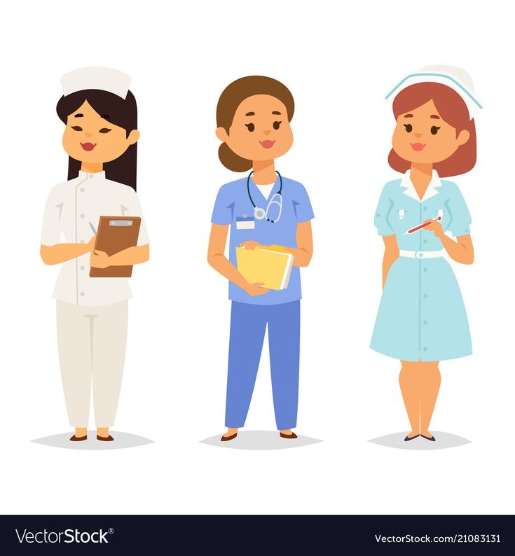 Doctor nurse character vector medical woman staff flat