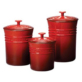 Le Creuset Cherry Canister set, wish list for the new house.