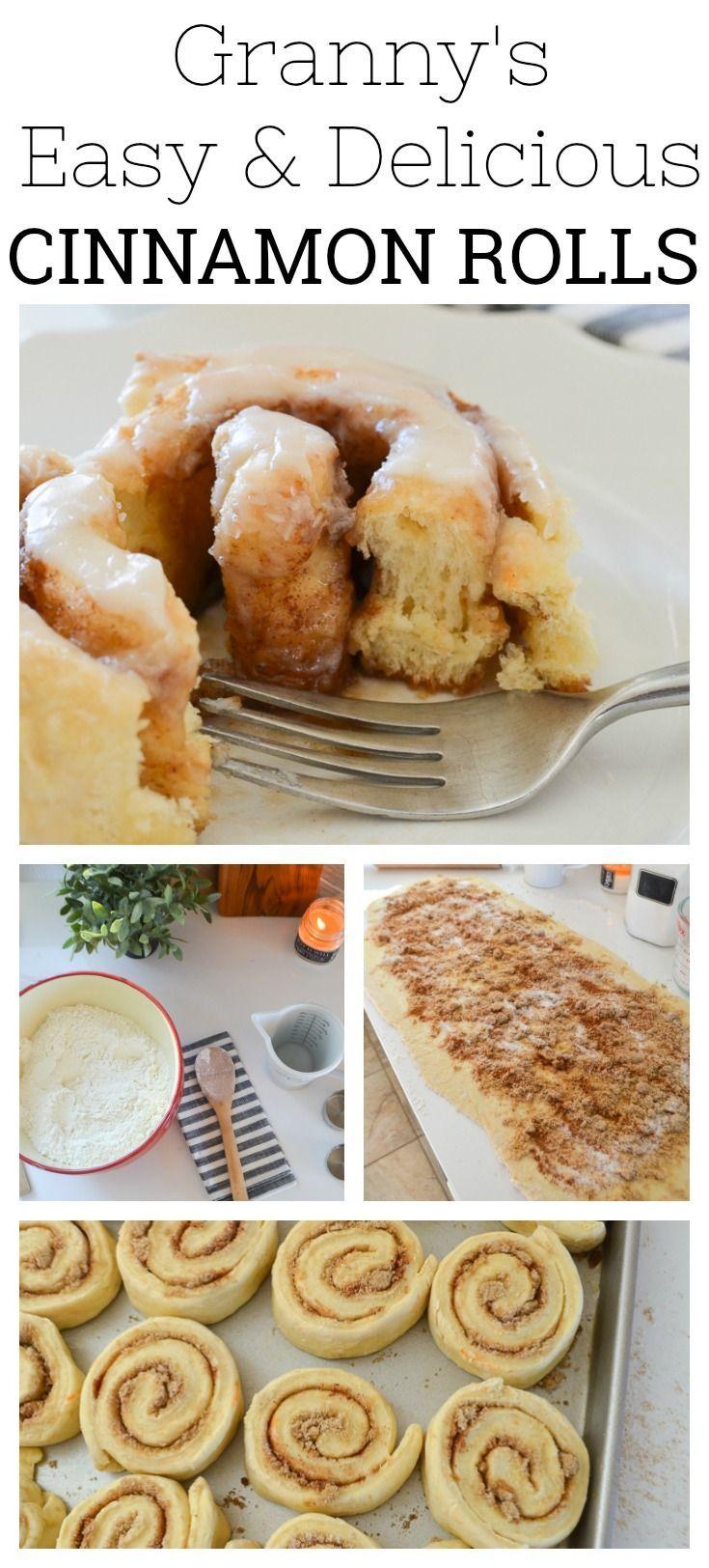 Granny's Easy and Delicious Cinnamon Rolls