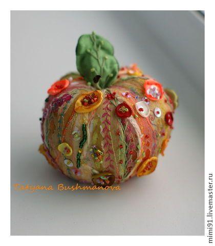 Восточный аромат - арт,арт текстиль,яблоко,текстильное яблоко,крейзи стиль