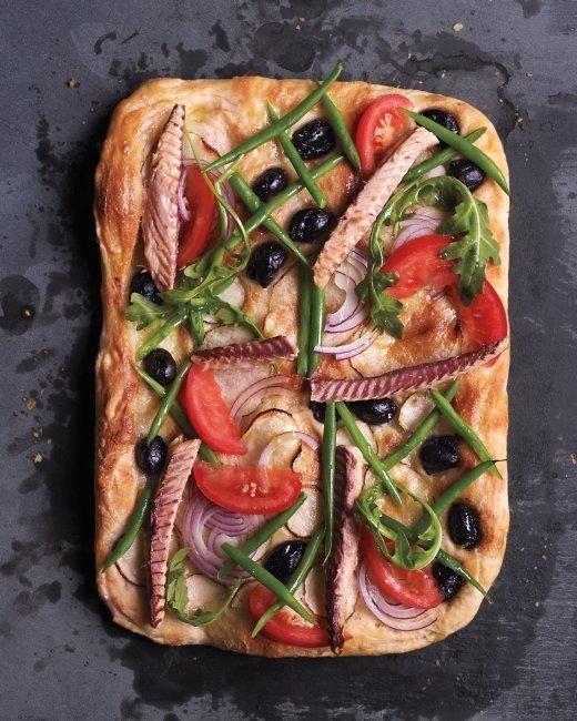 Unique Pizza Works of Art // Nicoise-Salad Pizza Recipe