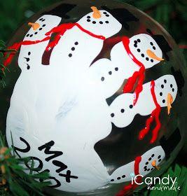 Handful of Handmade Christmas Ornaments