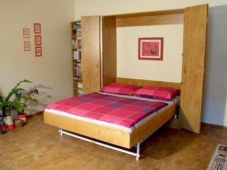 Sklápěcí postele Dual představují řešení spánku v malém prostoru. Jde o postele, které je možné zavřít do skříně. Vyrábějí se z lamina (vzorník: http://bit.ly/kzk_odstiny). / Dual folding beds offer one of the solutions to sleep in a small space. This is a bed which can be closed up into cabinet. They are made of laminate (colors: http://bit.ly/kzk_odstiny). #bed #folding #cabinet #bedroom #jmp #loznice #postel #rozkladaci #skrin