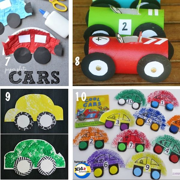 Knutselen met kinderen - Thema: auto's - Cars Crafts for Preschoolers: Recycled Materials -Kidz Activities