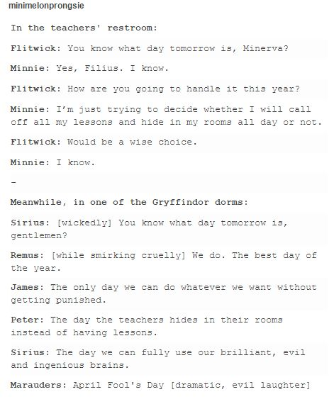 the marauders and the teachers