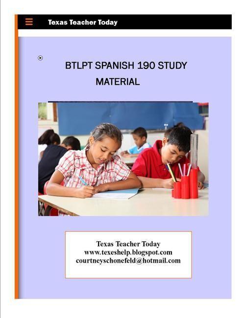 Buy BTLPT Spanish 190 Study Material Here Elementary