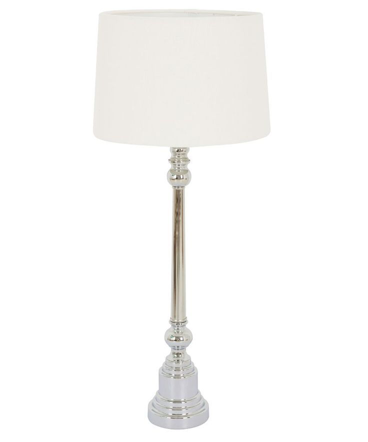 Safia Large Table Lamp in Nickel | Lamps | Lighting