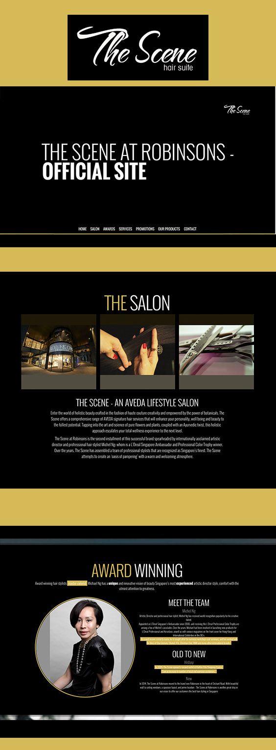 Website design & development for a popular Orchard based lifestyle & hair salon.