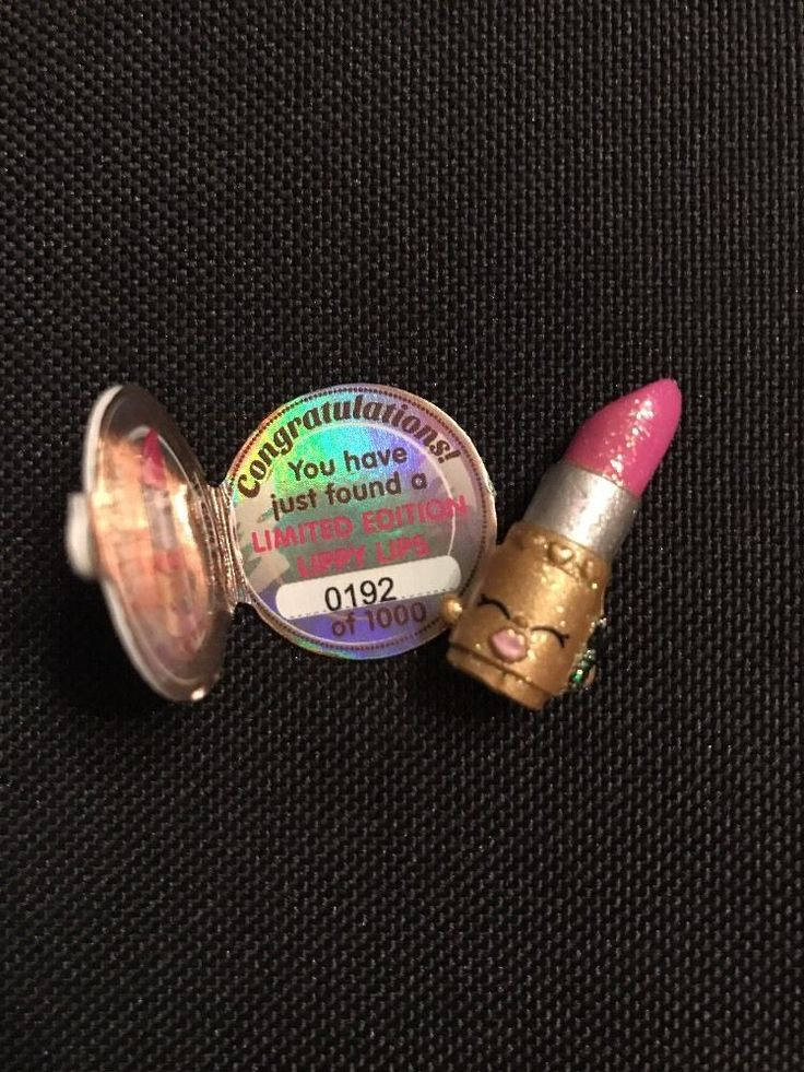 Shopkins limited edition Shopkins Gold Lippy Lips 0192/1000