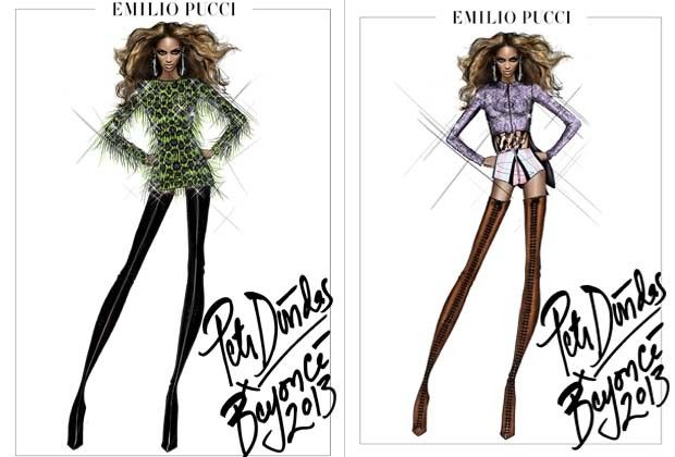 Emilio Pucci assina figurino para nova turnê de Beyoncé