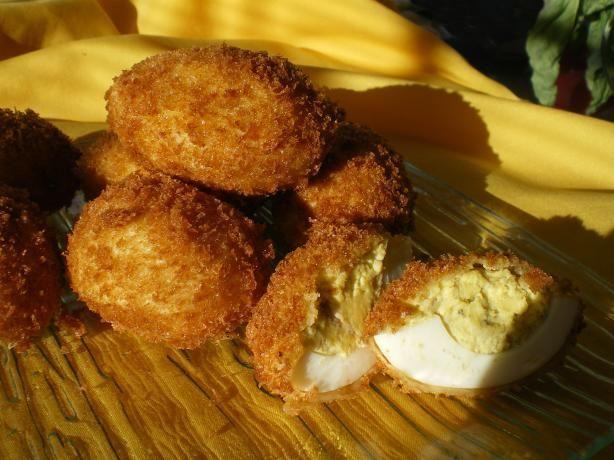 Sardine Stuffed Deep Fried Eggs