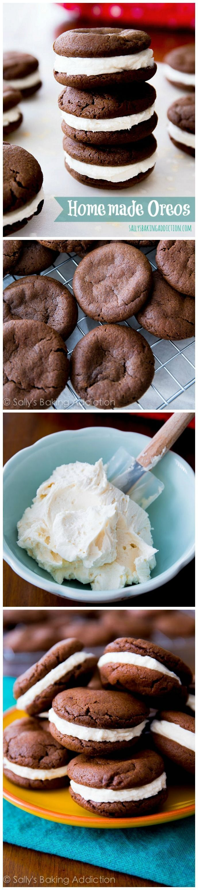 Homemade Oreos! So many readers have tried them, saying they're better than the originals. Crunchy, creamy, sweet!
