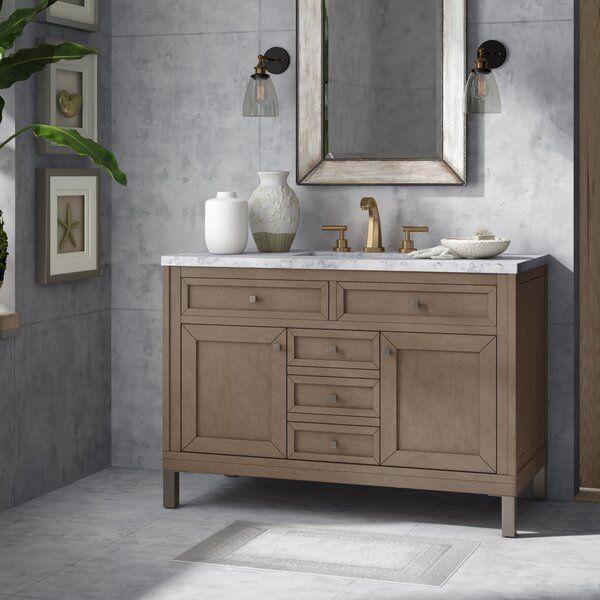 Bathroom Vanity, 48 White Washed Bathroom Vanity