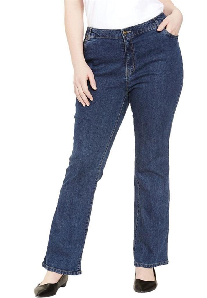 80f5aca1b37 Jessica London Women s Plus Size True Fit Tall Bootcut Jeans ...