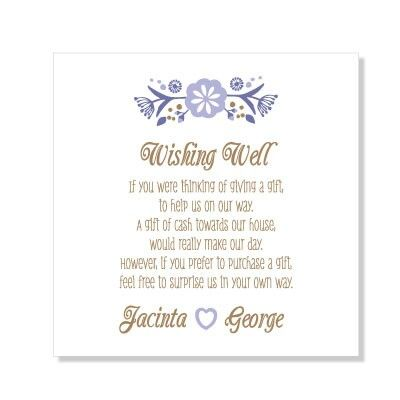 Wishing Well Wedding Shower Invitations