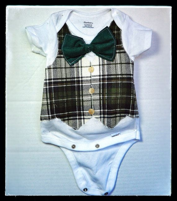 Vest and Bow Tie Onesie on Etsy, $22.50