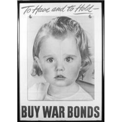 (WORLD WAR II PROPAGANDA POSTER): American-issued World War II propaganda poster, 20  x 28  color...