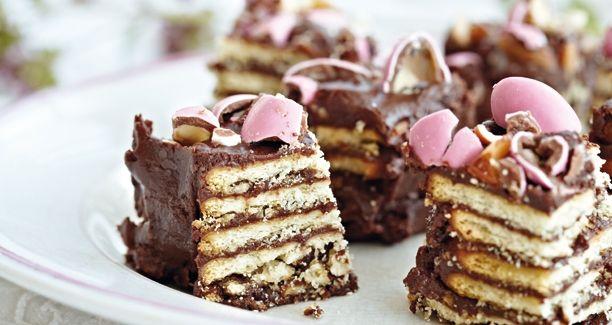 Lækker chokoladekage med kiks
