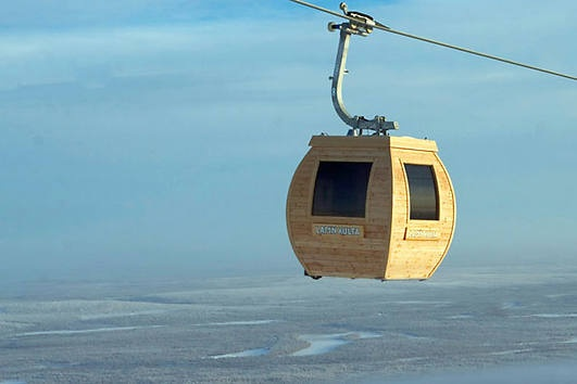sauna up in the air (only in finland) a little over the top - pun unintended.