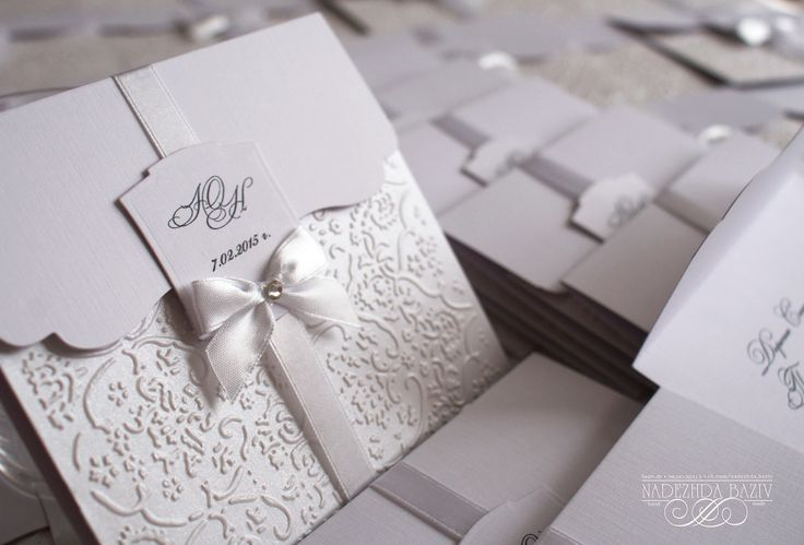 Nadezhda Baziv handmade wedding invitation