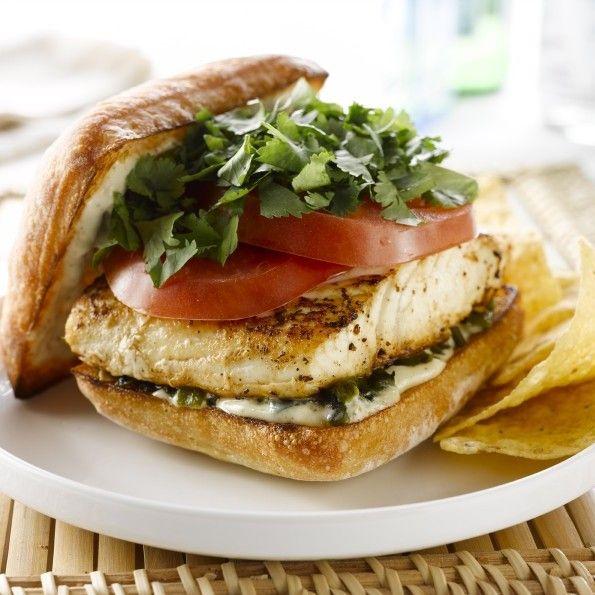Baja alaska halibut sandwich sandwiches yum for Plenty of fish anchorage