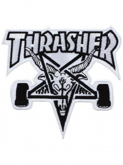 Thrasher Skate Goat White Patch