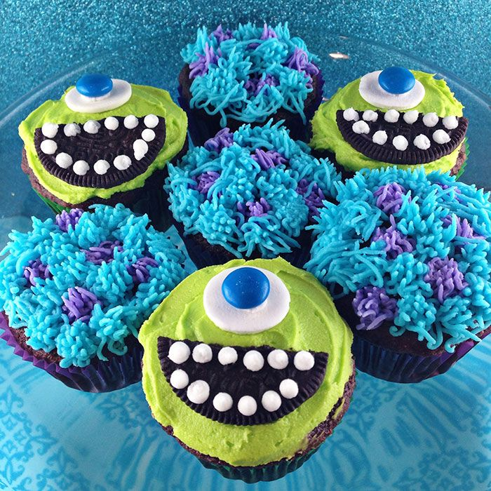 I sooooo want these for my birthday. Yes, I am 41 yrs old. Don't judge. :)   Monsters Inc. Cupcakes » With Sprinkles on Top