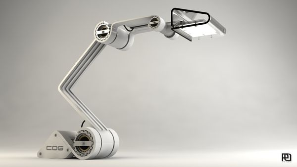 COG work lamp by Otto Polefko
