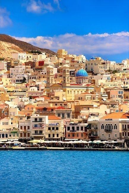Ermoupolis - The capital of the south Aegean  -  Syros Island Greece