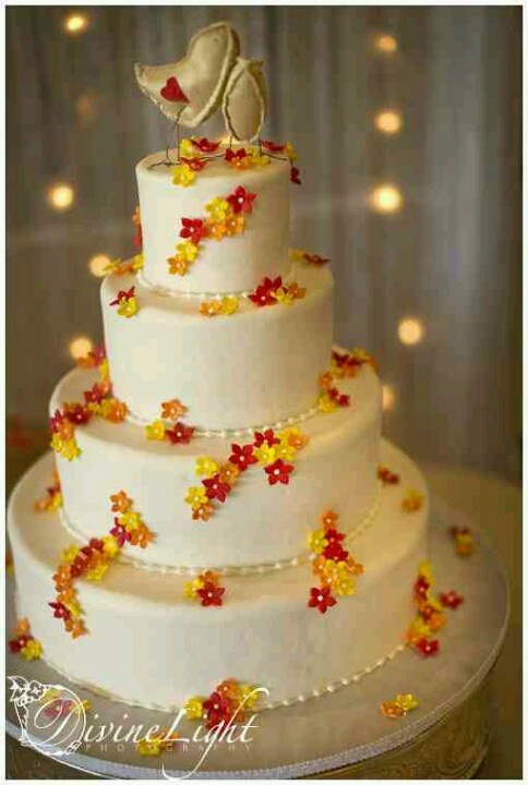 Red And Yellow Wedding Cakes
