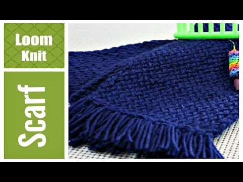 LOOM KNITTING SCARF Easy for Beginners VERY Detailed Round and Long Loom, My Crafts and DIY Projects