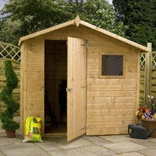 Mercia Garden Products 8 x 6 Wooden Shiplap Storage Shed   Wayfair.co.uk
