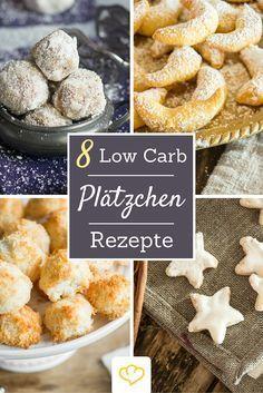 Naschen ohne Reue: hier kommen 8 Low Carb Weihnachtsplätzchen-Rezepte, die so lecker sind, dass man kaum glauben kann, dass sie tatsächlich weniger Kohlenhydrate haben.