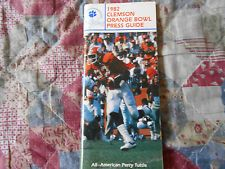 1981 CLEMSON MEDIA GUIDE for 1982 ORANGE BOWL TIGERS: NAT CHAMPS! Football AD