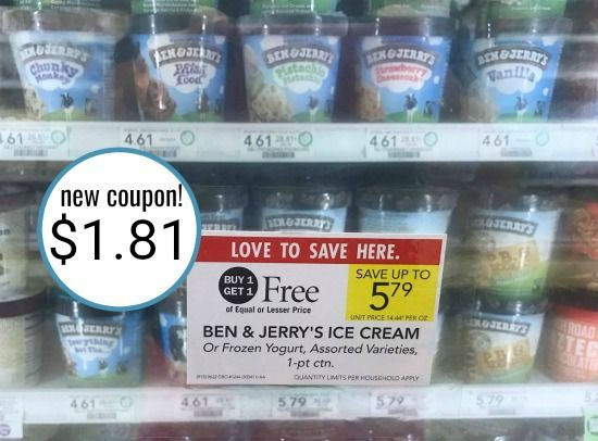 New Ben & Jerry's Coupons For The Publix BOGO Sale!