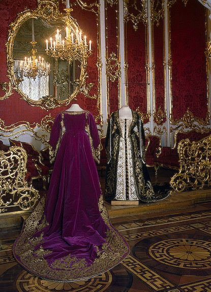 Ceremonial Court Dresses of a Lady-in-Waiting to Imperial Court  St Petersburg  Russia. Second half of the 19th century