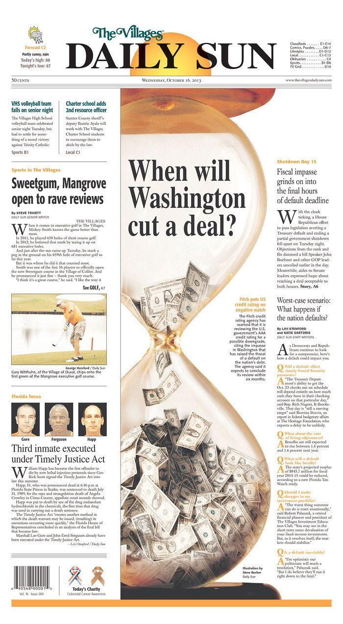 FL_VDS.jpg Daily Sun When will Washingtong cut a deal? #Newspaper #Design #GraphicDesign