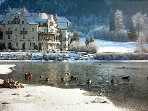 "Romantic Road Germany | Romantic Road, Hotel at the Bavarain Lake ""Alpsee"""