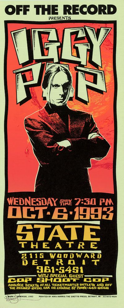 Iggy Pop  Classic heavy metal rock psychedelic music poster  ☮~ღ~*~*✿⊱  レ o √ 乇 !! ~
